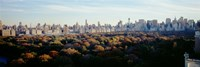 View Over Central Park, Manhattan, NYC, New York City, New York State, USA Fine Art Print