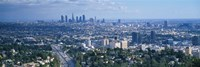 Aerial view of a city, Los Angeles, California, USA Fine Art Print