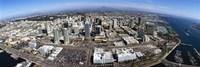 Aerial view of a city, San Diego, California, USA Fine Art Print