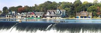 Boathouse Row at the waterfront, Schuylkill River, Philadelphia, Pennsylvania Fine Art Print