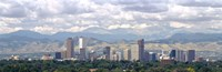 Clouds over skyline and mountains, Denver, Colorado, USA Fine Art Print