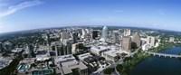 Aerial view of a city, Austin,Texas Fine Art Print