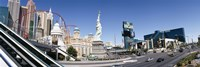 Buildings in a city, New York New York Hotel, MGM Casino, The Strip, Las Vegas, Clark County, Nevada, USA Fine Art Print