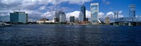 Buildings at the waterfront, St. John's River, Jacksonville, Duval County, Florida, USA Fine Art Print