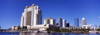 Skyscrapers at the waterfront, Tampa, Hillsborough County, Florida, USA Fine Art Print