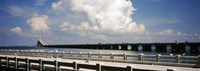 Bridge across a bay, Sunshine Skyway Bridge, Tampa Bay, Gulf of Mexico, Florida, USA Fine Art Print