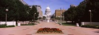 Footpath leading toward a government building, Wisconsin State Capitol, Madison, Wisconsin, USA Fine Art Print