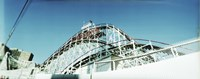 Low angle view of a rollercoaster, Coney Island Cyclone, Coney Island, Brooklyn, New York City, New York State, USA Fine Art Print