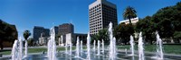 Plaza De Cesar Chavez with Water Fountains, San Jose, California Fine Art Print