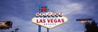 Low angle view of Welcome sign, Las Vegas, Nevada, USA Fine Art Print