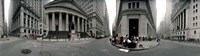 360 degree view of buildings, Wall Street, Manhattan, New York City, New York State, USA Fine Art Print