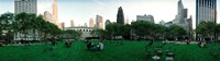360 degree view of a public park, Bryant Park, Manhattan, New York City, New York State, USA Fine Art Print
