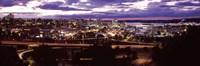 Aerial view of a city, Tacoma, Pierce County, Washington State, USA 2010 Fine Art Print