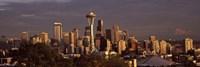 Seattle skyline at dusk, King County, Washington State, USA 2010 Fine Art Print