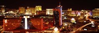 Las Vegas Skyline Lit Up at Night Fine Art Print
