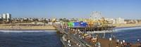 Amusement park, Santa Monica Pier, Santa Monica, Los Angeles County, California, USA Fine Art Print