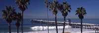 Pier over an ocean, San Clemente Pier, Los Angeles County, California, USA Fine Art Print