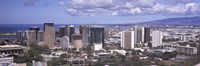 High angle view of a city, Honolulu, Oahu, Honolulu County, Hawaii, USA 2010 Fine Art Print