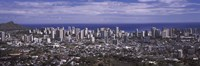 Aerial view of a city, Honolulu, Oahu, Honolulu County, Hawaii, USA 2010 Fine Art Print