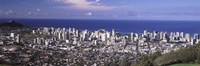 Honolulu skyline, Oahu, Honolulu County, Hawaii, USA 2010 Fine Art Print