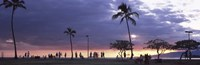 Tourists on the beach, Honolulu, Oahu, Hawaii, USA Fine Art Print