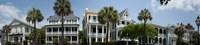 Low angle view of houses along a street, Battery Street, Charleston, South Carolina Fine Art Print
