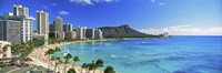 Diamond Head, Waikiki Beach, Oahu, Honolulu, Hawaii Fine Art Print