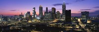 Atlanta skyline at night, Georgia, USA Fine Art Print