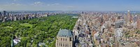 Aerial view of a city, Central Park, Manhattan, New York City, New York State, USA 2011 Fine Art Print