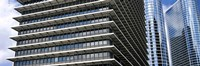 Low angle view of buildings in a city, ExxonMobil Building, Chevron Building, Houston, Texas, USA Fine Art Print