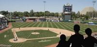 Spectator watching a baseball match at stadium, Raley Field, West Sacramento, Yolo County, California, USA Fine Art Print