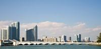 Miami Skyline, Miami, Florida, USA Fine Art Print