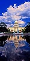 Government building on the waterfront, Capitol Building, Washington DC Fine Art Print