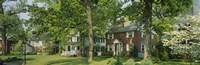 Facade Of Houses, Broadmoor Ave, Baltimore City, Maryland, USA Fine Art Print