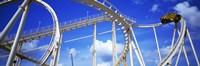 Batman The Escape Rollercoaster, Astroworld, Houston, Texas, USA Fine Art Print