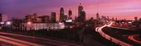 Atlanta, Georgia (purple sky) Fine Art Print