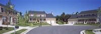 Houses Along A Road, Seaberry, Baltimore, Maryland, USA Fine Art Print