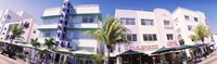 Low angle view of buildings in a city, Miami Beach, Florida, USA Fine Art Print
