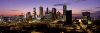 Skyline At Dusk, Cityscape, Skyline, City, Atlanta, Georgia, USA Fine Art Print