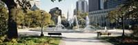 Fountain in a park, Swann Memorial Fountain, Logan Circle, Philadelphia, Philadelphia County, Pennsylvania, USA Fine Art Print
