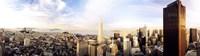 High angle view of a city, Transamerica Building, San Francisco, California, USA Fine Art Print