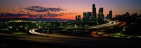 Sunset Puget Sound & Seattle skyline WA USA Fine Art Print
