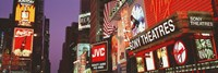 Billboards On Buildings, Times Square, NYC, New York City, New York State, USA Fine Art Print