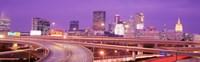 USA, Georgia, Atlanta, Skyline at dusk Fine Art Print