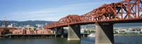 Bascule bridge across a river, Broadway Bridge, Willamette River, Portland, Multnomah County, Oregon, USA Fine Art Print