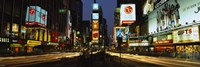 Shopping malls in a city, Times Square, Manhattan, New York City, New York State, USA Fine Art Print