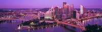Dusk, Pittsburgh, Pennsylvania, USA Fine Art Print