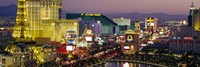 MGM Grand and Paris Casinos at night, Las Vegas, Nevada Fine Art Print