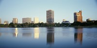 Lake Merritt with skyscrapers, Oakland, California Fine Art Print
