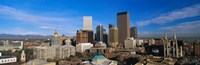 Skyline View of Denver Colorado in the Day Fine Art Print